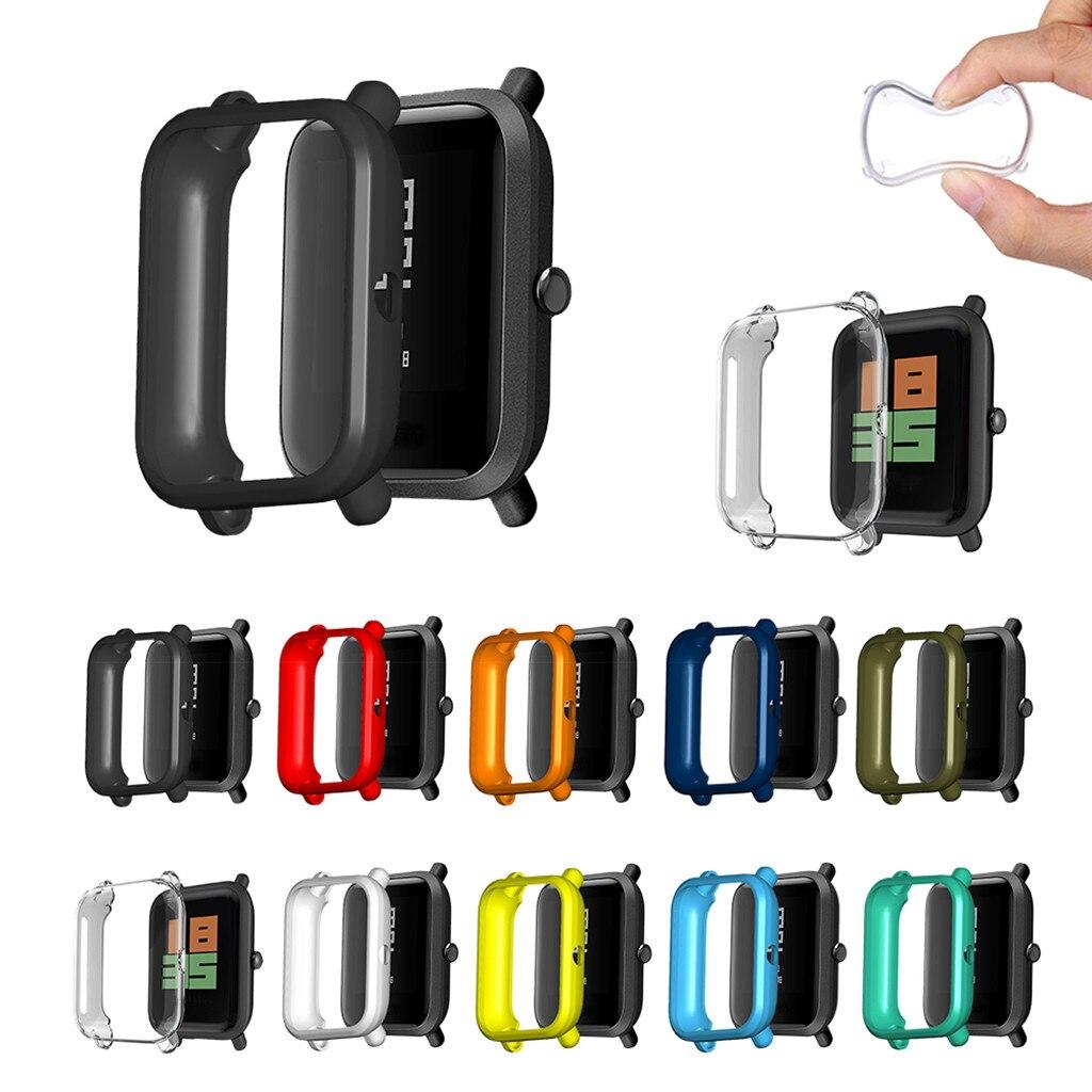 Protector de pantalla de reloj inteligente Xiaomi Huamei Amazfit Bip Youth/Lite, de Tpu blando con amortiguador para relojes Xiaomi Huamei