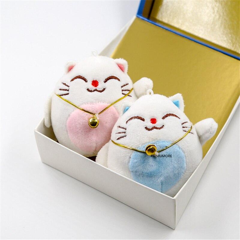 1piece random color- Little Cat Plush  , keychain Pendant 6CM Animal Stuffed Plush TOY