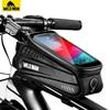 와일드 맨 Waterproo 자전거 전화 가방 탑 튜브 프레임 가방 사이클링 프론트 빔 가방 전화 홀더 6.5 인치 터치 스크린 자전거 가방