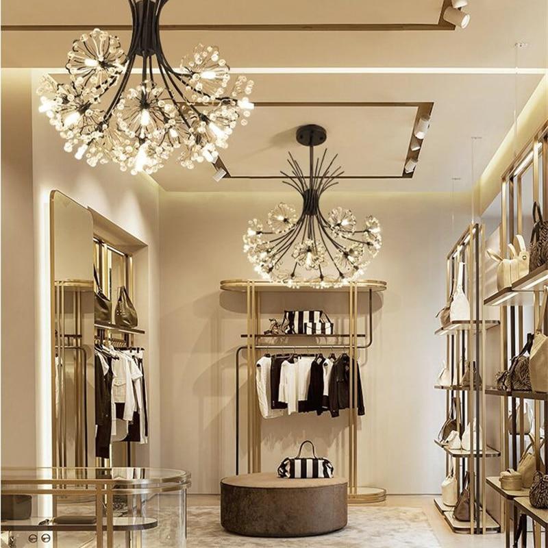 Araña Led de cristal diseño de diente de león lámpara colgante de flores para sala de estar chimenea cocina decoración hogar iluminación suspensión G9
