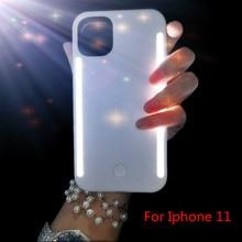 Coque de téléphone légère pour iphone 11 Pro Max étui Photo lumière de remplissage pour iphone X 7 plus coque Mobile Selfie pour étui iphone 11