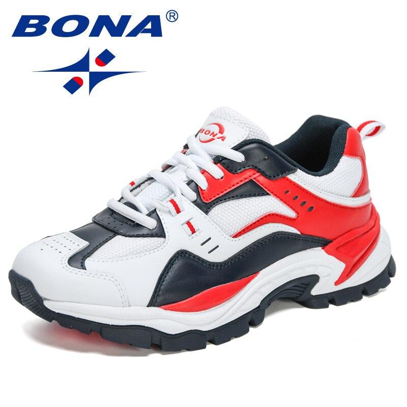بونا-أحذية كاجوال عصرية للرجال ، أحذية ترفيهية بأربطة قابلة للتنفس ، 2021