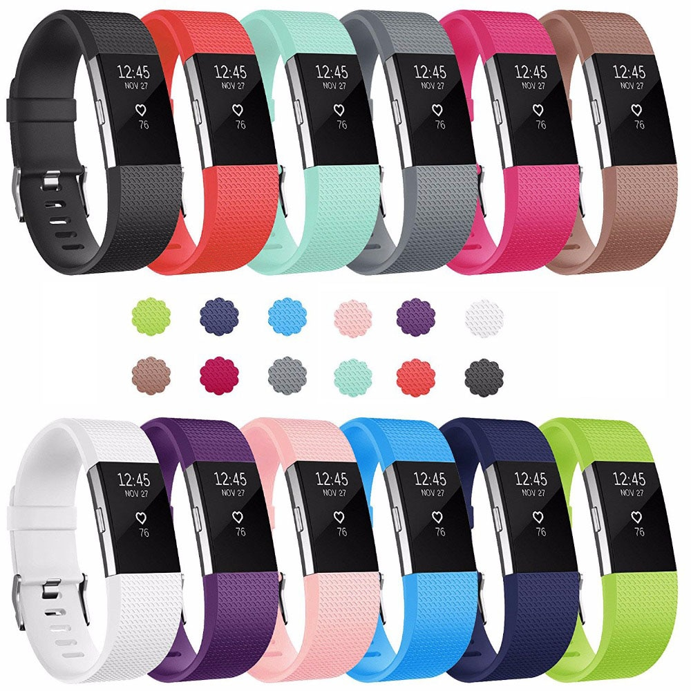 Silicone strap for Fitbit Charge 2 Smart watch Accessories Man Woman Sport bracelet strap band replacement watchband wrist belt