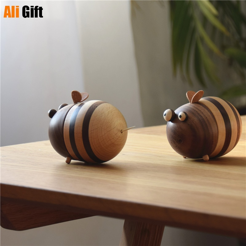 خشبية 150 قطعة النحل شكل حامل عصي الأسنان لطيف مسواك موزع الديكور لمطعم المنزل هدية