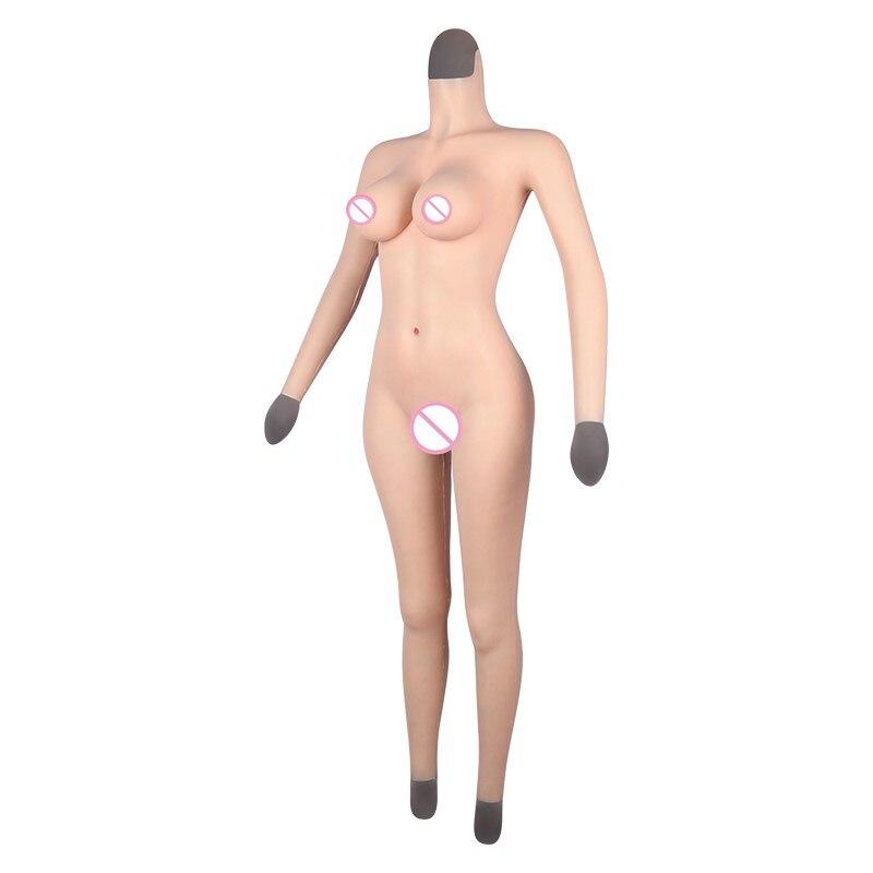 غطاء كامل من القطن المرن + سيليكون أشكال ثدي واقعية للمهبل الكاذب غطاء كاذب لثدي مزيف تأثيري للكروسدرسر