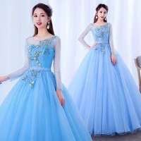 2021 quinceanera dresses sky blue appliques beaded crystal sweetheart special party gowns floor length ball dress