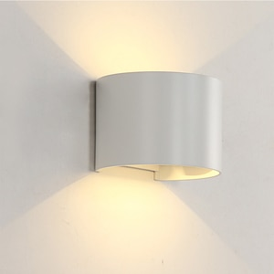 BORUiT IP65 Waterproof 10W Indoor Outdoor Led Aluminum Wall Lamp AC85~265V Surface Mounted Garden Porch Light Sconce