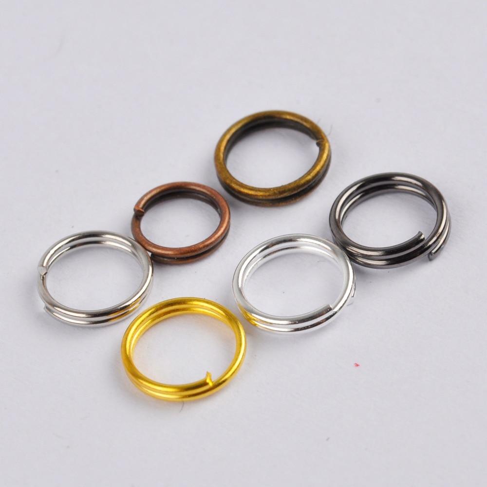 2000 pces duplo salto anéis 4mm 5mm 6mm 7mm 8mm 10mm 12mm 14mm 16mm 20mm anéis rachados jóias descobertas acessórios
