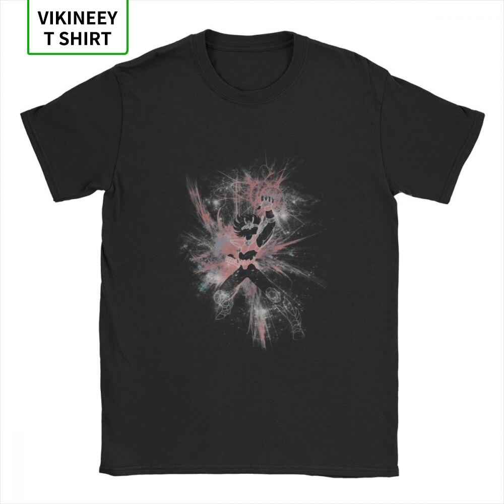 Meteor Fist T-Shirts Men Knights of the Zodiac Saint Seiya 90s Anime Novelty Cotton Tees Short Sleeve T Shirt Original Tops