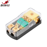 universal 12v 30a100a 1 in 2 ways car fuse box holder gold plated car sound safety seat for auto boat vehicle audio