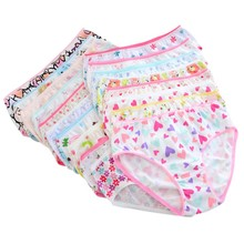 6 Pcs/lot Baby Girls Cotton Panties Underwear Kids Children Short Underpants Briefs for 0-12 Years