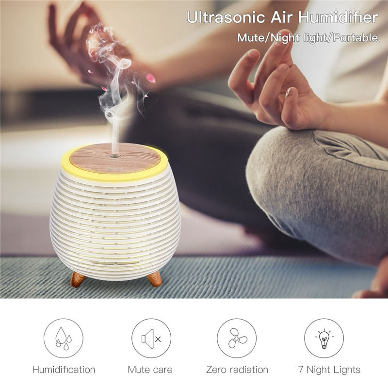 Ultrasonic Air Humidifier USB Aromatherapy Diffuser Bedroom Air Purifier Moisture Mini Essential Oil Diffuser with Night Lights glorystar seven colors aromatherapy essential oil diffuser ultrasound atomization mini desktop humidifier household bedroom