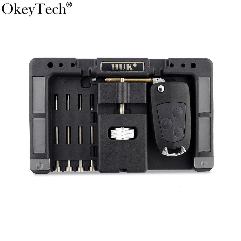 OkeyTech Original HUK Key Fixing Tool Flip Key Vice Of Flip-key Pin Remover for Locksmith Tool With Four Pins