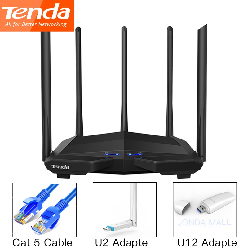 comfast cf wr617ac gigabit dual band ac1200 wireless router 5 8ghz wi fi router with 4 5dbi high gain antennas wider coverage Tenda AC11 Gigabit Dual-Band AC1200 Wireless Wifi Router WIFI Repeater 5*6dBi High Gain Antennas AC10 Wider Coverage Easy setup