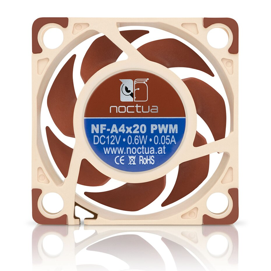 4pin pwm fan connector turbo fan utral thin 29mm cooling fan for 1u server cpu cooler computer components Noctua NF-A4x20 40x40x20mm Cooling fan 5V/12V and 3pin /4pin PWM quiet For Computer Case Cooling CPU cooler Radiator Replace fan
