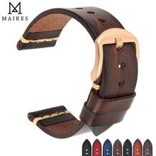 Maikes Lederen Horlogeband voor Galaxy Horloge Band 18mm 20mm 22mm 24mm Horloge Band Tissote Timex omega Pols Armbanden