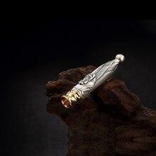 Sterling Silver Cigarette Filter Pendant S925 Silver Smoke Filter Pendant GIft Dragon Head Filter Pendat Jewelry