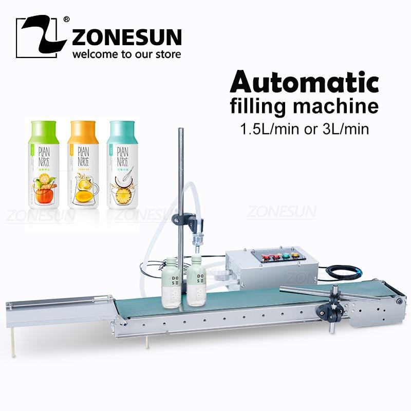 ZONESUN-آلة تعبئة السوائل الكهربائية الأوتوماتيكية ، مضخة رقمية لتعبئة زجاجات المياه والعطور والمشروبات وعصير الزيتون