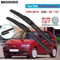 car wiper blade for fiat punto 5 doors 2218 1999 2010 windscreen windshield wipers blades window wash fit u hook arms
