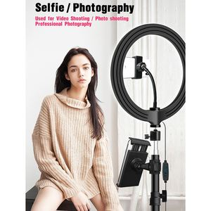 10inch/26cm LED Ring Light 3 light color Dimmable LED Live Video Ring Light Set with Tripod Tablet Clip