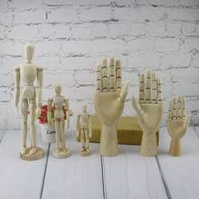 Creative Wooden Man Joint Puppet Palm Sketch Activity Comic Model Feature Home Furnishing Desktop De