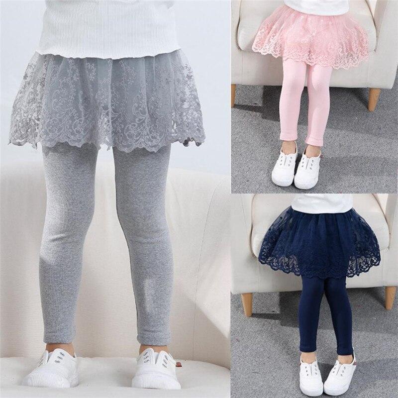 2020 хлопковые леггинсы для маленьких девочек, кружевное платье принцессы, юбка Леггинсы для девочки, на весну осень для детей из искусственной кожи; Обтягивающая юбка; Брюки для От 2 до 7 лет, детская одежда|Леггинсы| | АлиЭкспресс