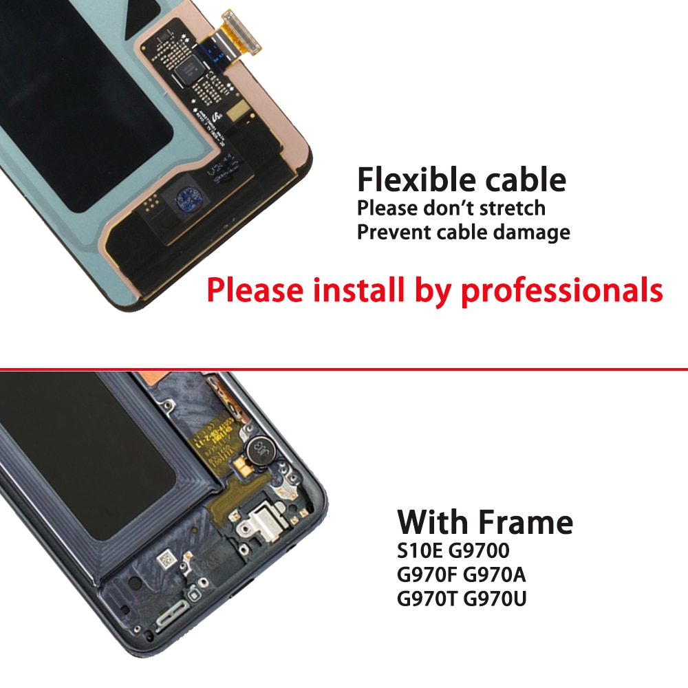 """100% tested 5.8"""" Original AMOLED S10e LCD display for Samsung Galaxy S10e G9700 G970F G970 LCD touch screen digitizer assembly enlarge"""