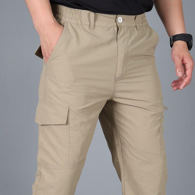 Брюки-карго мужские тактические, летние повседневные армейские штаны в стиле милитари, с несколькими карманами, тактические штаны, быстрос...