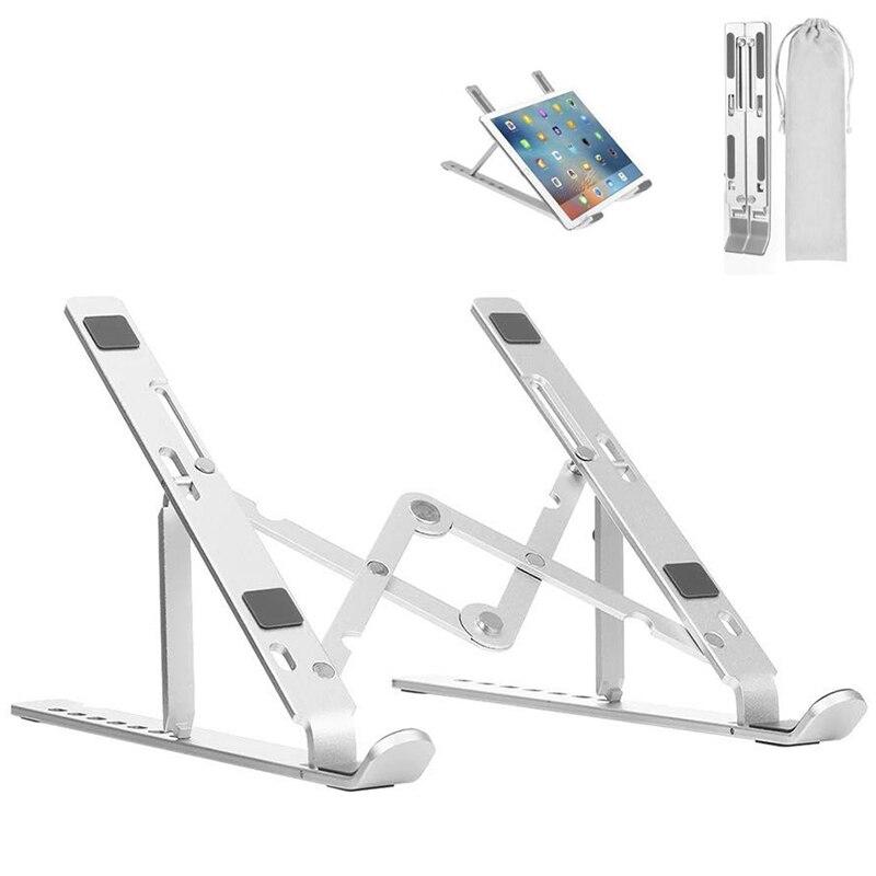 Titular do Portátil Liga de Alumínio Suporte do Computador para Macbook Novo Ajustável Notebook Suporte Portátil Tablet ar Pro