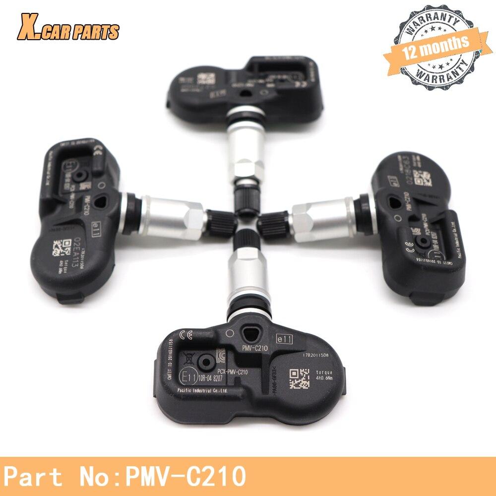 42607-02031 Monitor de presión de neumáticos TPMS Sensor apto para Toyota Alphard Auris Avens Avensis Lexus ES GS GX LC ¿433Mhz PMV-C210