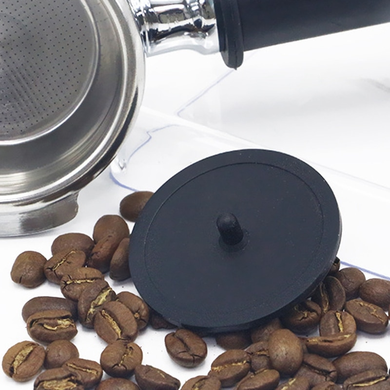 Blind Filter Backflush Disk Rubber for Espresso Machines Brewing Head Backwashing Gasket 2Pcs