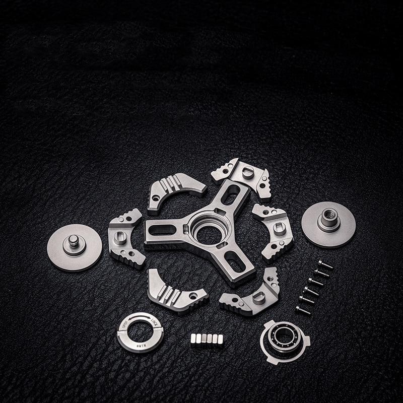 WANWU-EDC MINI KEPLER Metal Decompression Toy With Sliding Rail Fingertip Top enlarge