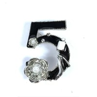 luxury famous brand vintage style lady dress brooches camellia bag red lips number 5 enamel pins brooch