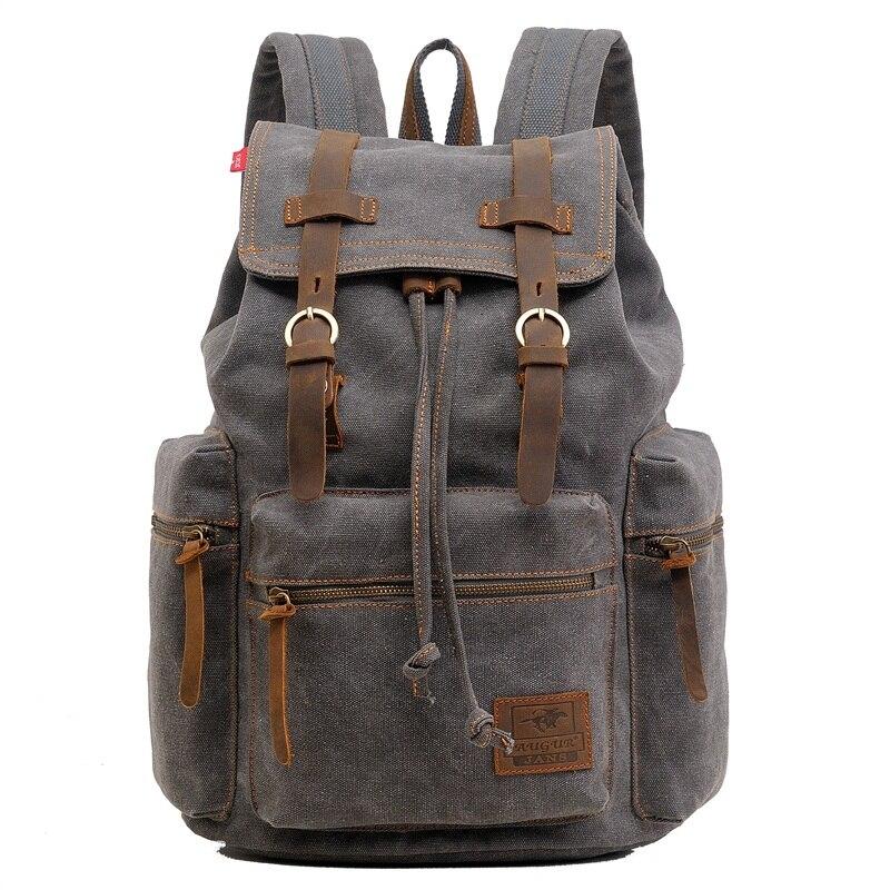 Модный мужской рюкзак, винтажный холщовый рюкзак, школьная сумка, Женский дорожный рюкзак, большой вместительный дорожный рюкзак для ноутб...