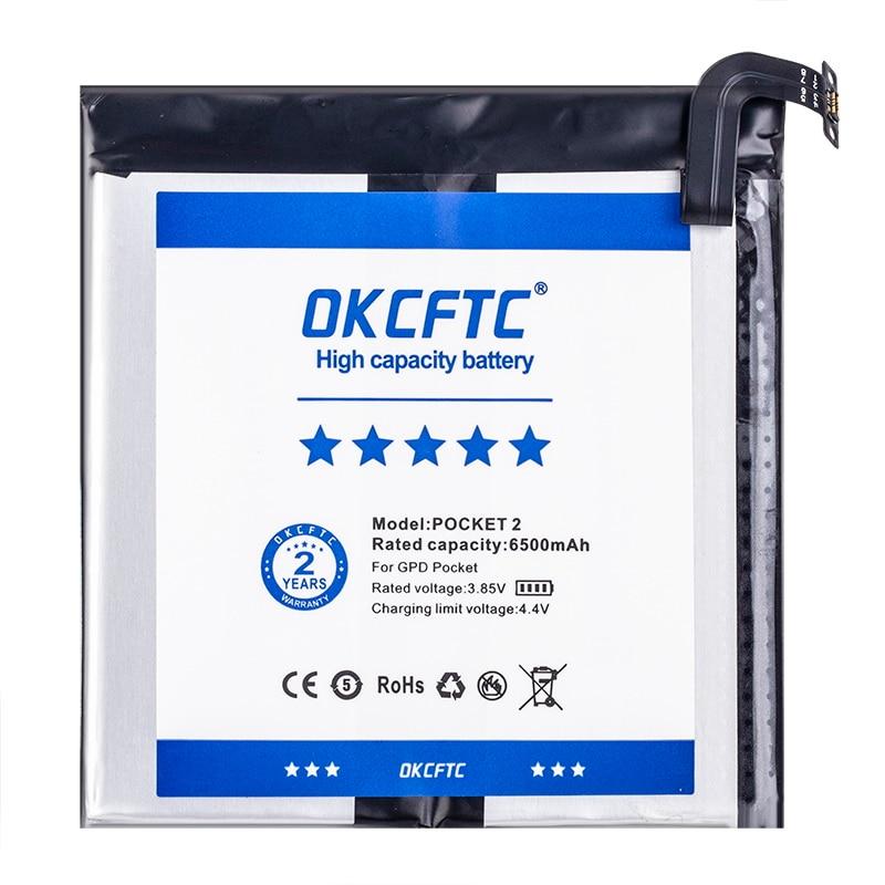 OKCFTC 6500mAh New Original Battery For GPD Pocket 2 Pocket2 Handheld Gaming Laptop 624284-2S Tablet enlarge
