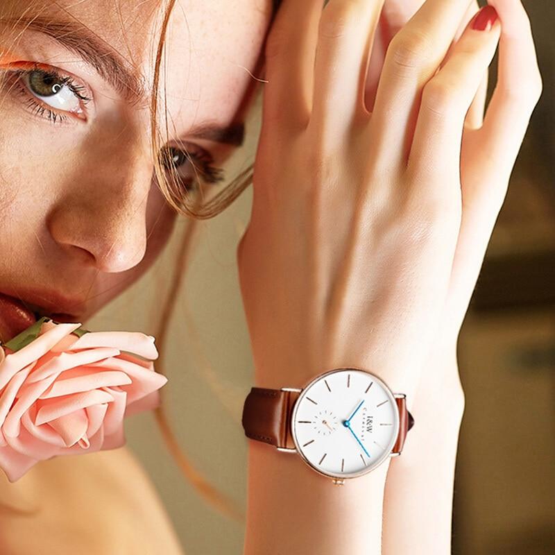 CARNIVAL Luxury Brand Fashion Watch Man Ladies Waterproof Ultra Thin Rose Gold Quartz Wristwatches Clock Women Relogio Feminino enlarge