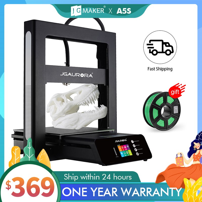 JGMAKER 3D Printer A5 Updated A5S Full Metal Diy Kit Extreme High Accuracy Large Print Size 305x305x320mm Impressora 3d JGAURORA