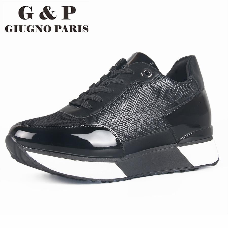 Shoes for women sneakers black casual shoes low heel shoes lace-up women's flats sneakers hidden heel super comfortable shoe