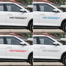 2 pièces voiture autocollant Stark Industries voiture carrosserie rayures autocollants vinyle décalcomanie pour dodge calibre ram 1500 caravane chargeur voiture Stying