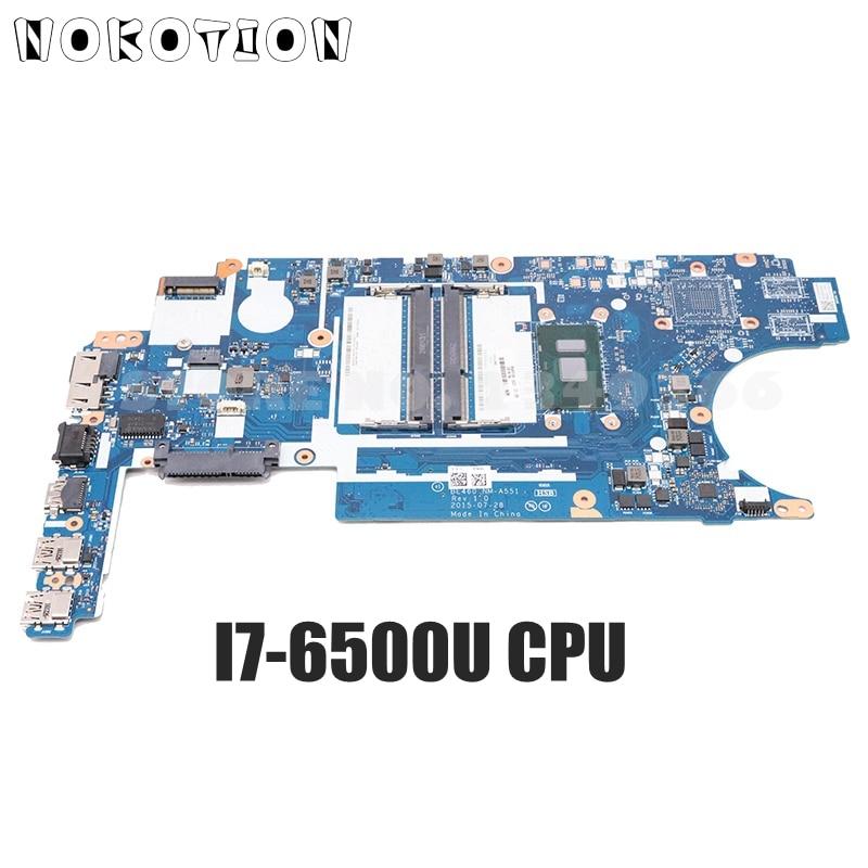 NOKOTION 00UP259 BE460 NM-A551 PC اللوحة لينوفو ثينك باد E460 14 بوصة اللوحة I7-6500U CPU 2GB GPU