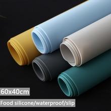 Mantel Individual de silicona de grado alimenticio, accesorio de gran tamaño, impermeable, aislamiento térmico, antideslizante, lavable, para mesa de cocina y cena, 60x40cm