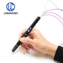 Lihuchen 3D stylo RP900A bricolage 3D impression stylo Support ABS/PLA Filament 1.75mm jouet créatif cadeau pour enfants conception dessin