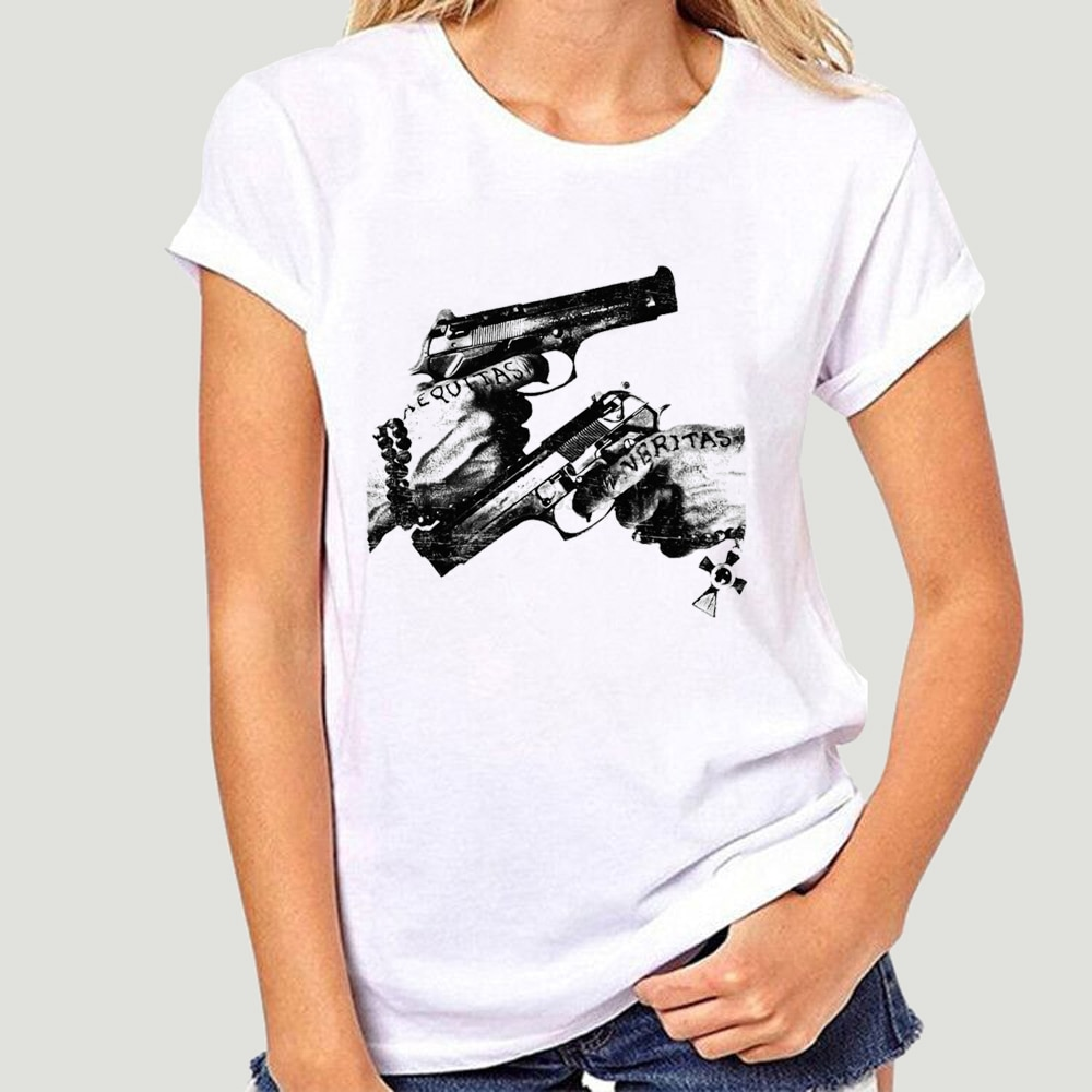 Camiseta de moda a la venta nueva Veritas estampadas de verano Aequitas Boondock Tattoo Saints Art Show Convention camiseta de verano para men-4586A