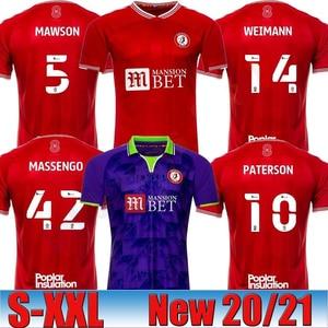 2020 2021 Bristol Weimann City Soccer Jerseys Mawson Martin Diedhiou Paterson Wells Massengo Kalas Dasilva Custom Home Red Footb