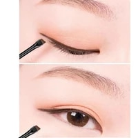 1pc beveled edge blade design makeup brush makeup eyeliner brush skin friendly eyebrow brush for women facial beauty cosmetic