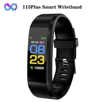 115 plus led fitness watch smartband wristband pedometer calories waterproof vibration reminder touch button for android ios