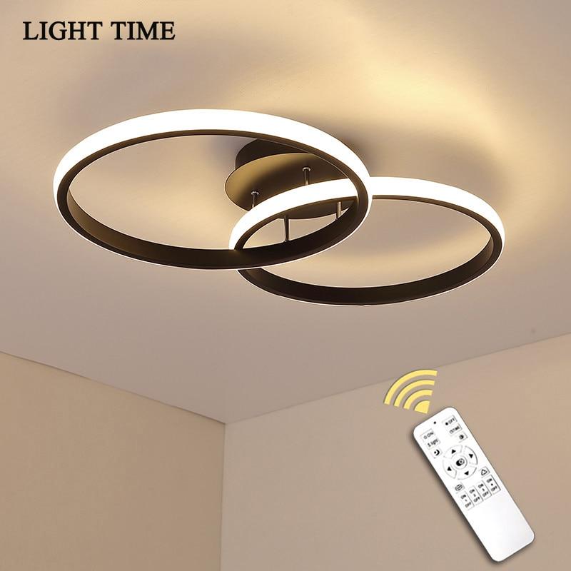 Черный и белый светодиодный потолочный светильник для гостиной, спальни, коридора, фойе, блеск, домашний светильник, потолочный светильник, ...