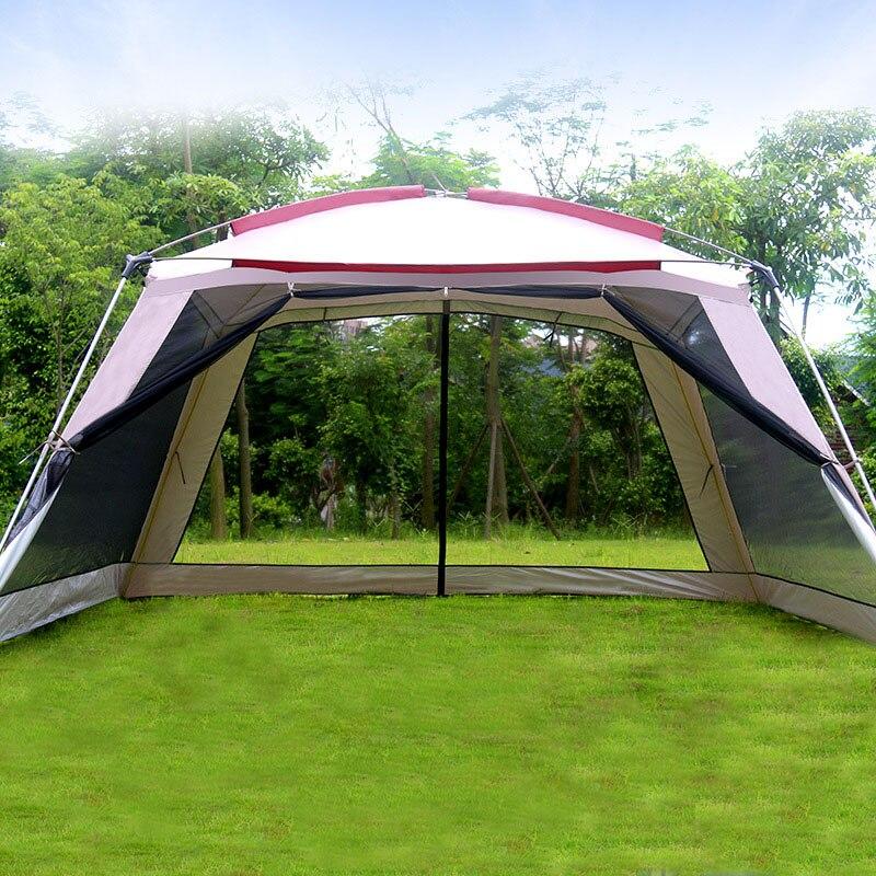 مأوى من الشمس كبير للتخييم ، 365 × 365 × 210 سنتيمتر ، 5-8 أشخاص ، جودة عالية ، خيمة على الشاطئ ، أثاث