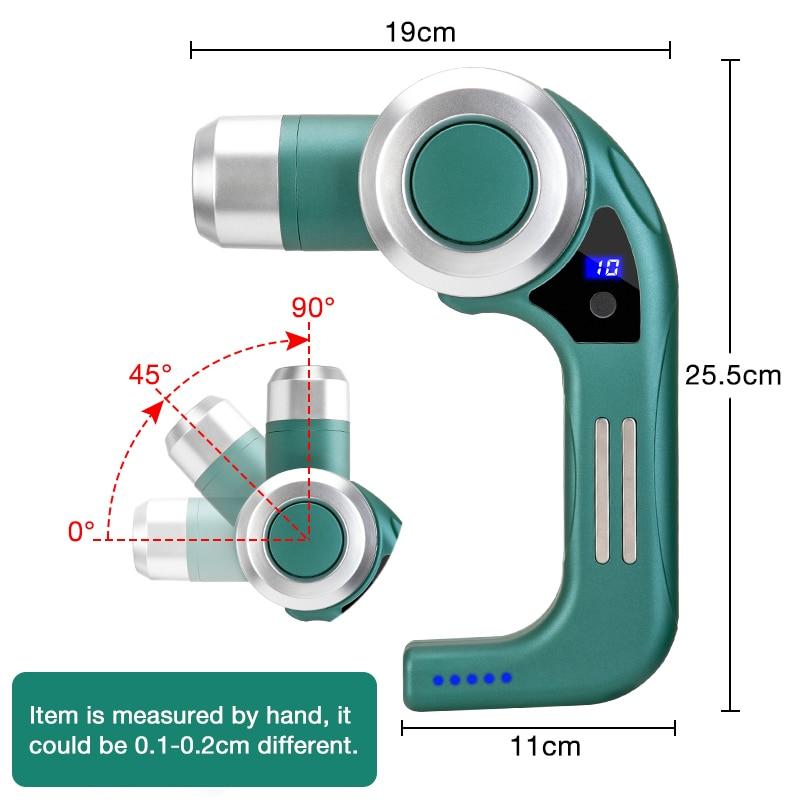 Rlaxyoo 10 Gear Professional Massage Gun Electric Muscle Body Massager Smart Adjustable Heads Fascia Gun Relaxation Pain Relief enlarge