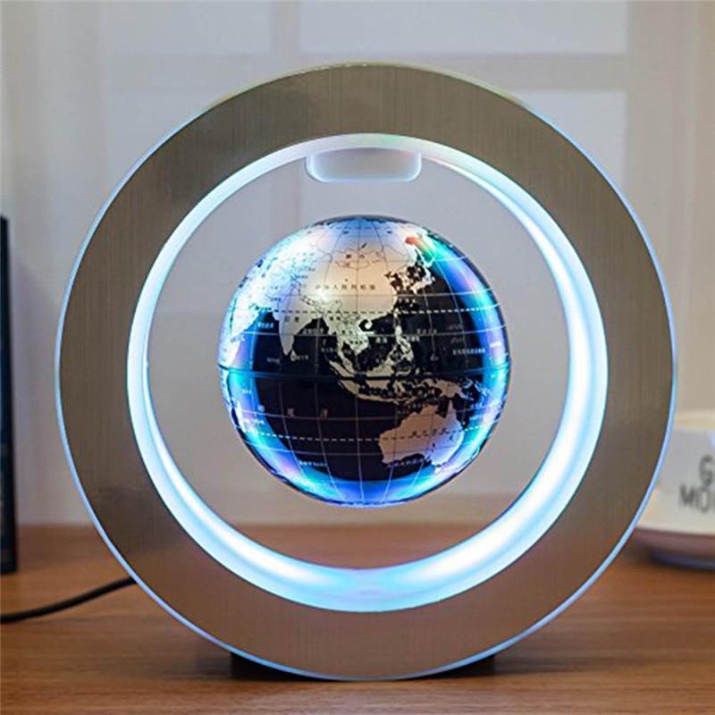 كرة أرضية مغناطيسية عائمة LED ، 4 بوصات ، مصباح ليلي ، خريطة العالم ، المدرسة ، المكتب ، الديكور المنزلي